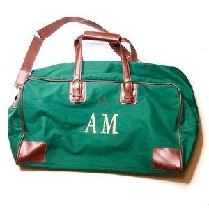 Vintage 90s Ralph Lauren pony duffel bag green